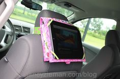 How to sew an iPad case for the car, using the Trace & Create Tablet Keeper Template. Details on Nancy Zieman's Blog
