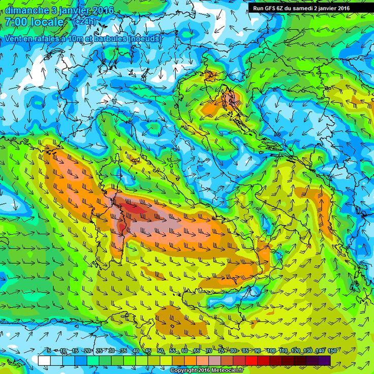 Inizia la fase di maltempo che interesserà l'Italia nella prima settimana di gennaio. Il nuovo anno porta con se precipitazioni ingenti, pioggia sulle pianure del centro e del sud, comprese le isole maggiori, e probabilmente nevicate sulle Alpi e gli Appennini con qualche sconfinamento sulla pianura padana.