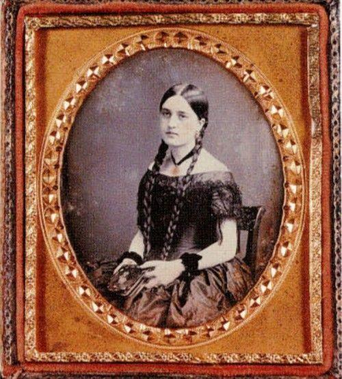Long braids maiden. Chilean beauty . 1859