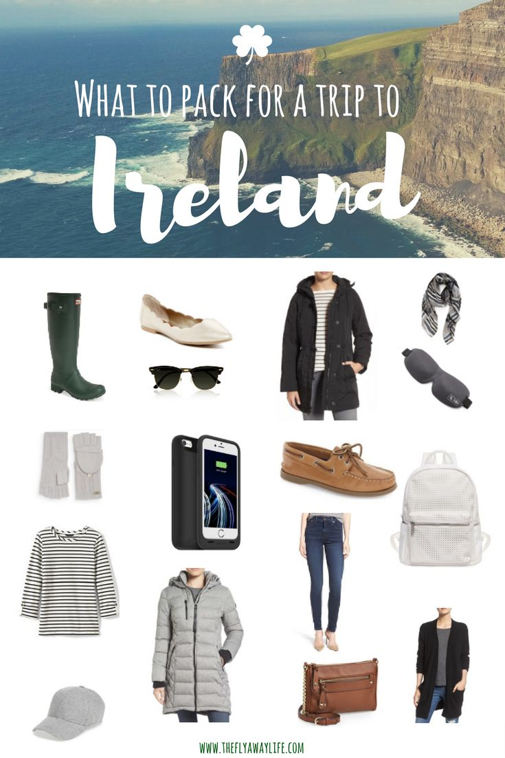 This is the ultimate packing list for Ireland! This list will help you pack all the essentials for Ireland's unpredictable weather.