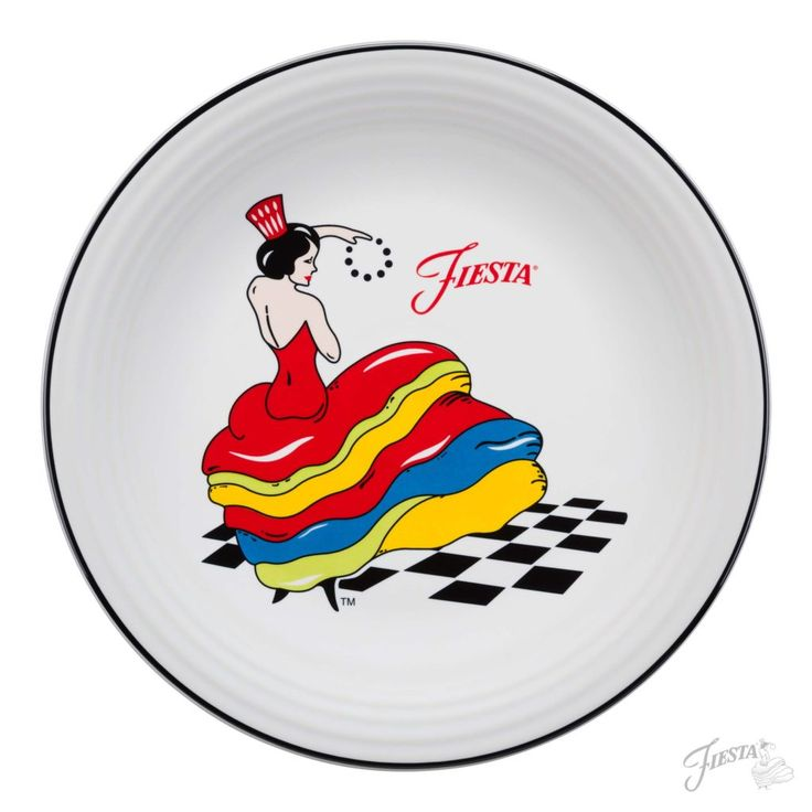 Fiesta Dinnerware new collection, featuring the iconic Dancing Lady, will be available in stores in March 2017 | www.alwaysfestive.com