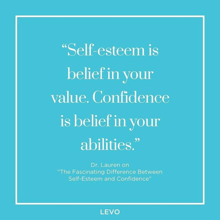 Levo ( Self Esteem Is A Belief In Your Value. Confidence Is A Belief In  Your Abilities. Find This Pin And More On Career Advice ...