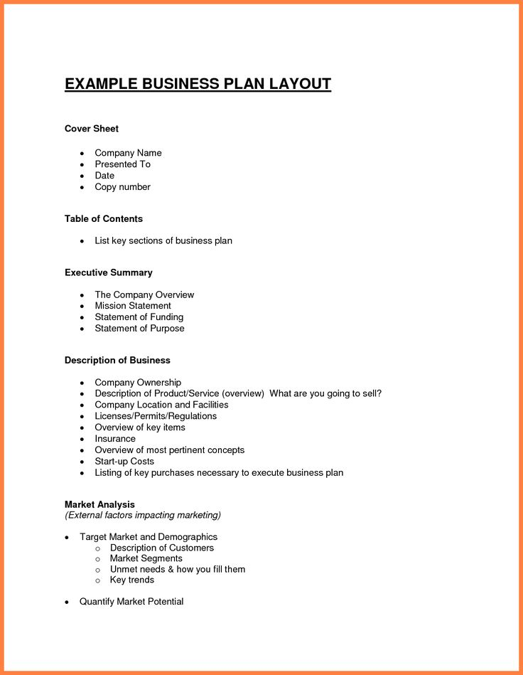 The  Best Sample Business Plan Ideas On   Business