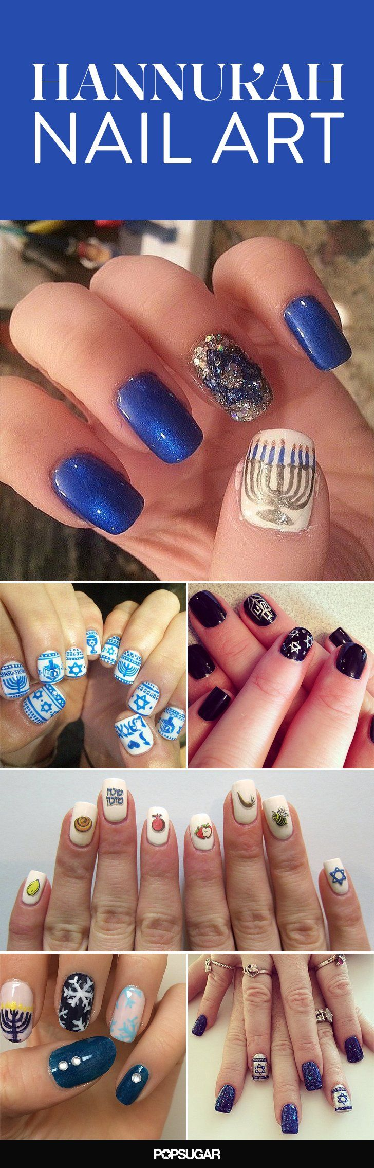 Celebrate Hanukkah With These Jewish Holiday Nail Art Looks
