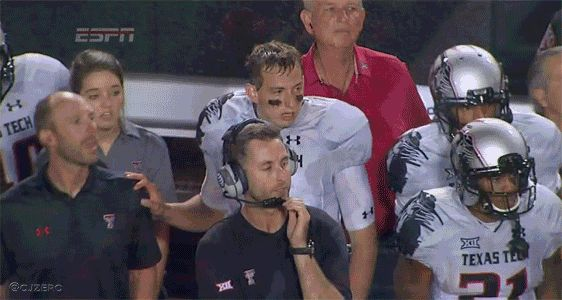 GIF: Kliff Kingsbury Facepalm Sums Up OK State Loss