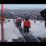 Neve e sole, domenica record al Monte Nerone