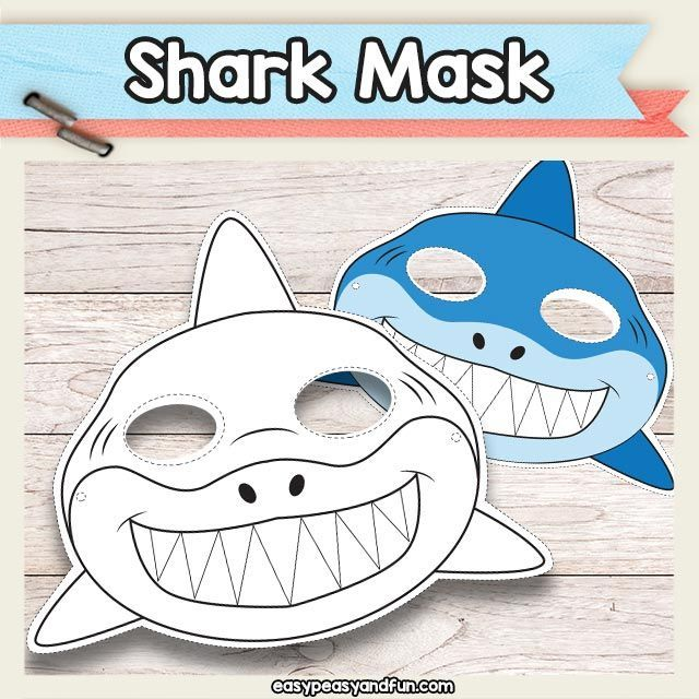 Printable Shark Mask Template Must do Crafts and Activities for