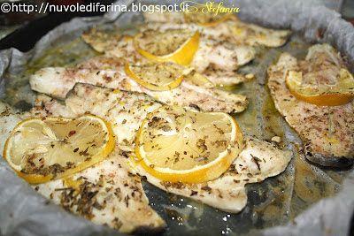 Filetti di branzino con origano, timo e limone
