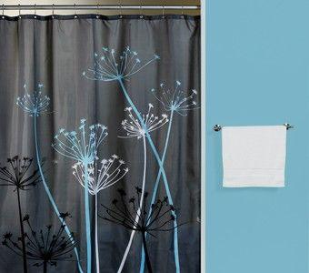 Brown Ans Blue Shower Curtain Curtain Bath Outlet Thistle Gray Blue