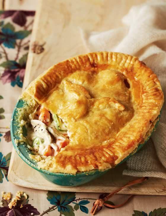 Old-fashioned British chicken pie.
