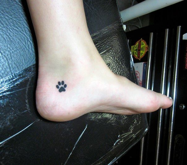 First tattoo in honor of all the dogs in my life I really like the placement