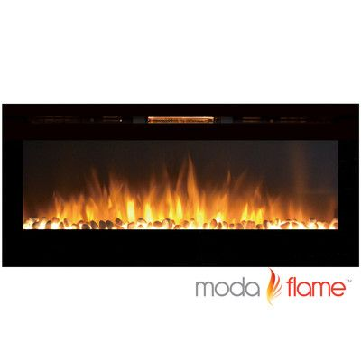 Moda Flame Cynergy Pebble Stone Built-In Wall Mounted Electric Fireplace & Reviews | Wayfair