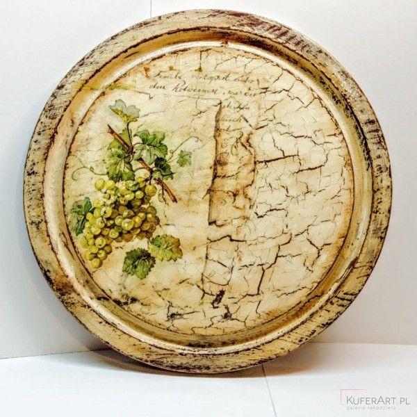 Obraz decoupage na drewnianej desce - Decoupage - Wnętrze