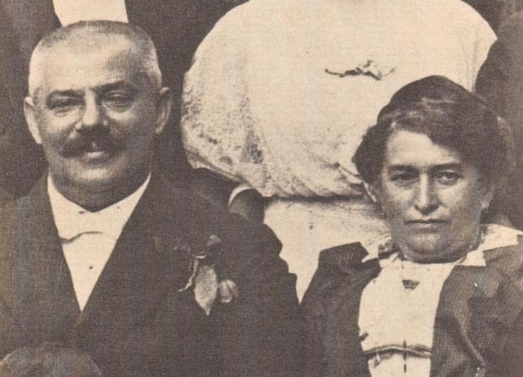 Monster, giant, father.  Hermann Kafka with his wife, Julia Löwy Kafka
