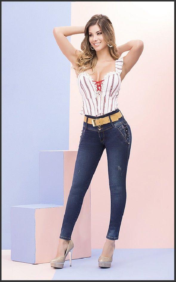 e20e16829 Jeans Levanta Cola Colombiano Angie Jeans 212 en 2019