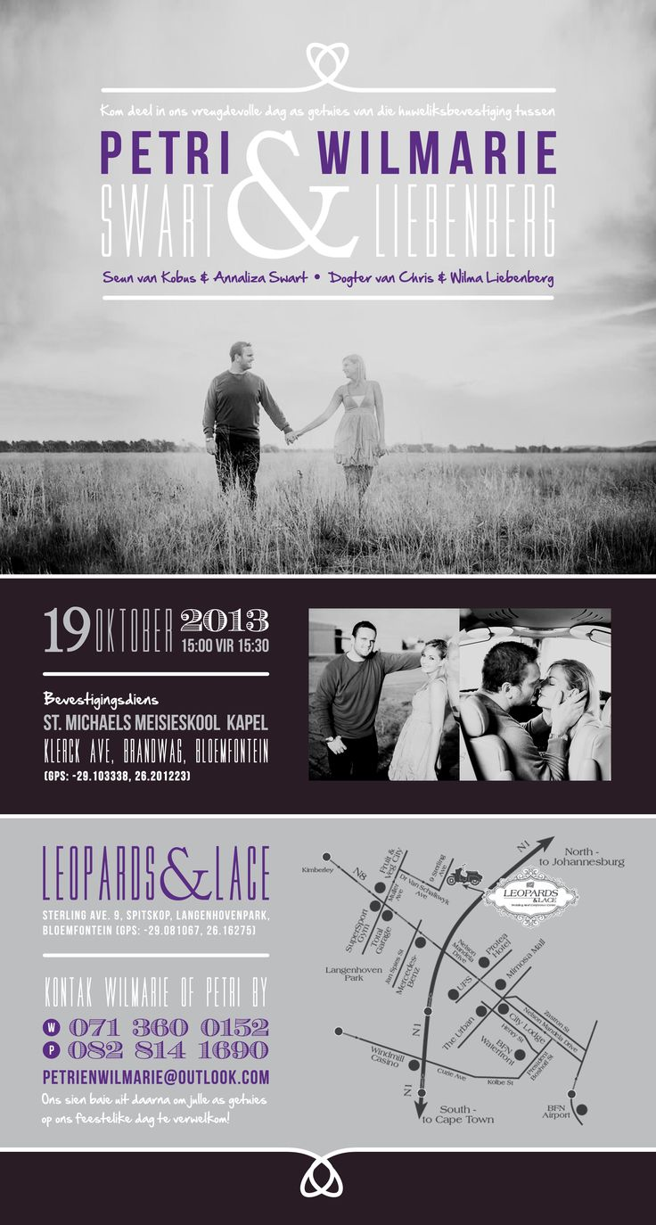 Electronic Wedding Invite for Petri and Wilmarie