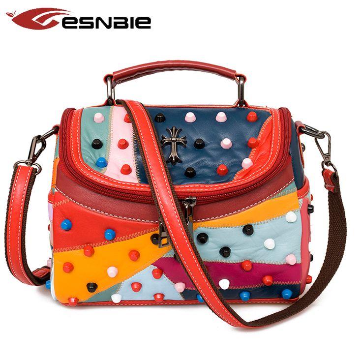 Luxury Women Genuine Leather Bag Sheepskin Messenger Bags Handbags Women Famous Brands Designer Female Handbag Shoulder Bag Sac -- Read more at the image link.