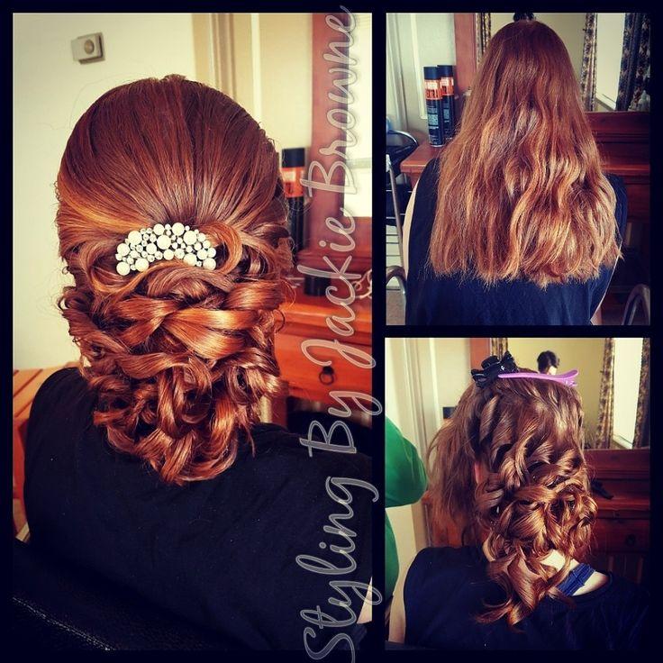 Bridal hair polished curly upstyle