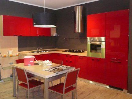 Cucina scavolini mod sax prezzo eur per rinnovo mostra arredo annunci pinterest - Cucina rossa scavolini ...