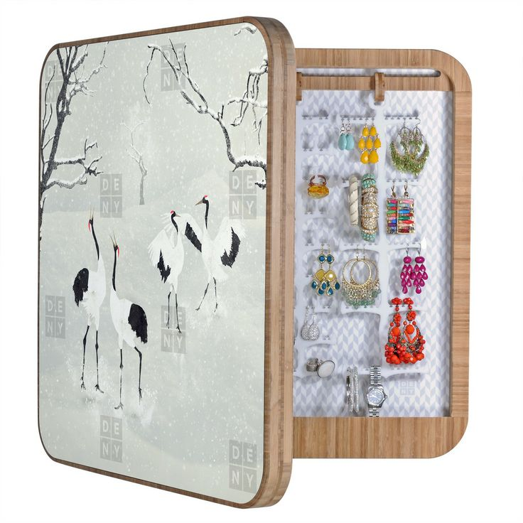 Belle13 Winter Love Dance Of Japanese Cranes BlingBox | DENY Designs Home Accessories