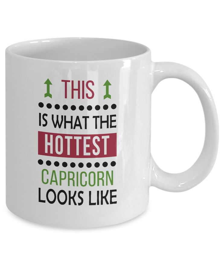 #Capricorn #Gift Mug - Awesome Looks - Cool #Zodiac #Birthday / #Christmas #Present. # ...
