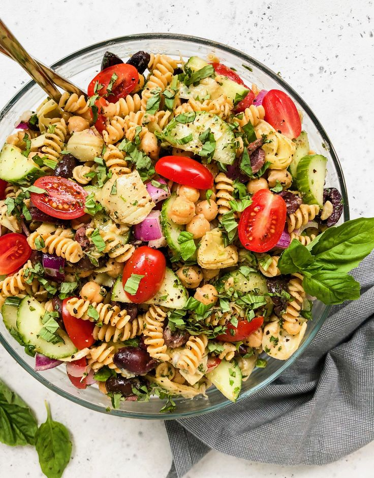 This Mediterranean Pasta Salad is quick and easy to make