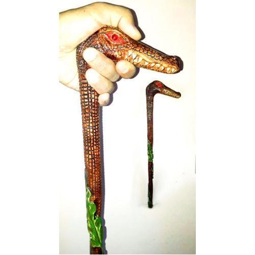 Devrek Bastonu Walkingstick Cane - Timsah ve Yapraklar
