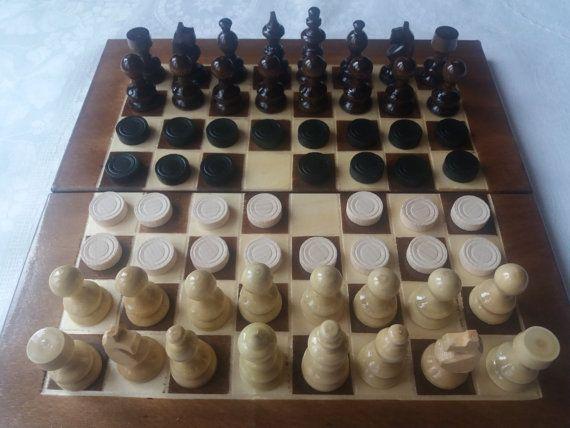 Nouvelle pièce d'échecs en bois noisetier belle, boîte échiquier en bois 25 x 25 cm, voyage en bois jeu d'échecs jeu backgammon jeu de dames jeu de la famille, jeu, jouet