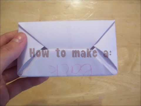 HowToMake: A Secret Letter *quick and easy oragami*