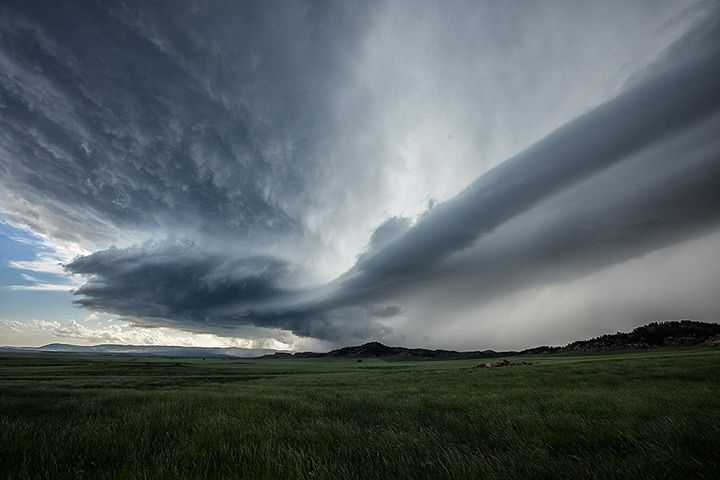 Credit: Roger Hill/Barcroft Media A storm formation near the Devil's Tower National Monument in Lightning Flats, Wyoming