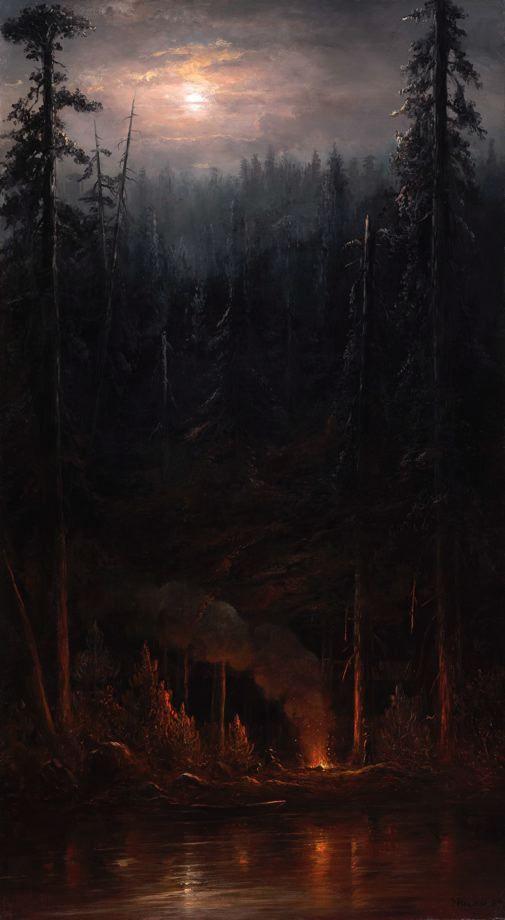 leprincelointain:  Norton Bush (1834-1894), Campfire Scene - 1885