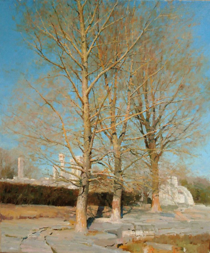 Old Summer Palace in the Winter (Beijing), Oil on Canvas, 28.5x23.8 inches, 2007