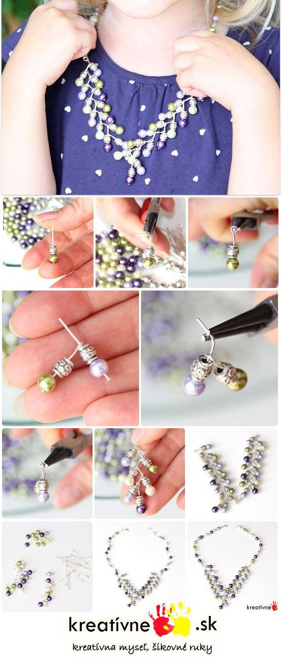 Návod na perlový náhrdelník.