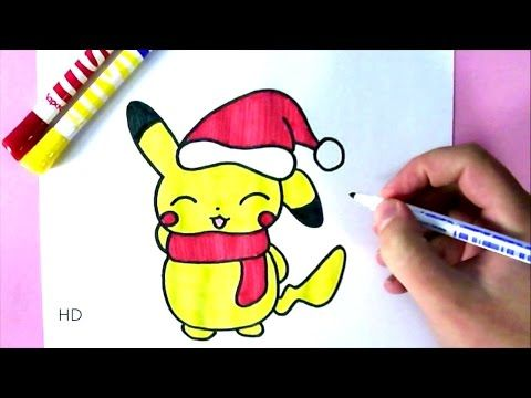 Comment dessiner b b pikachu kawaii dessin facile - Apprendre a dessiner des animaux mignon ...