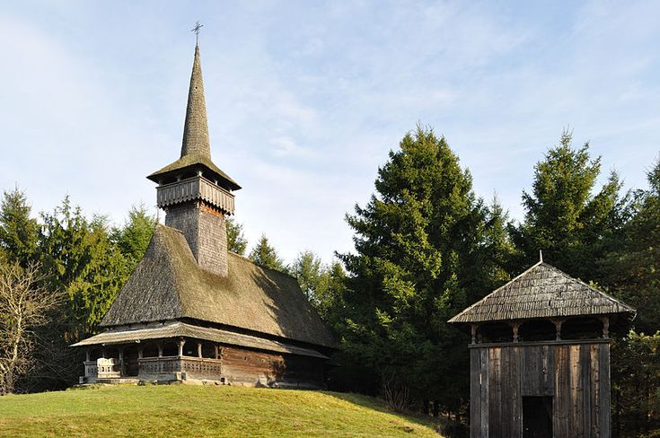 Wooden church from Oncești, Maramureș, Romania