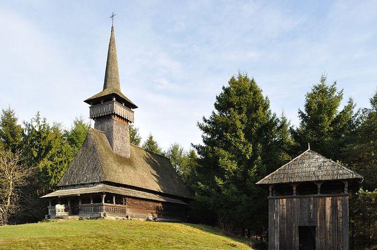 Wooden church from Oncești, Maramureș, Romania