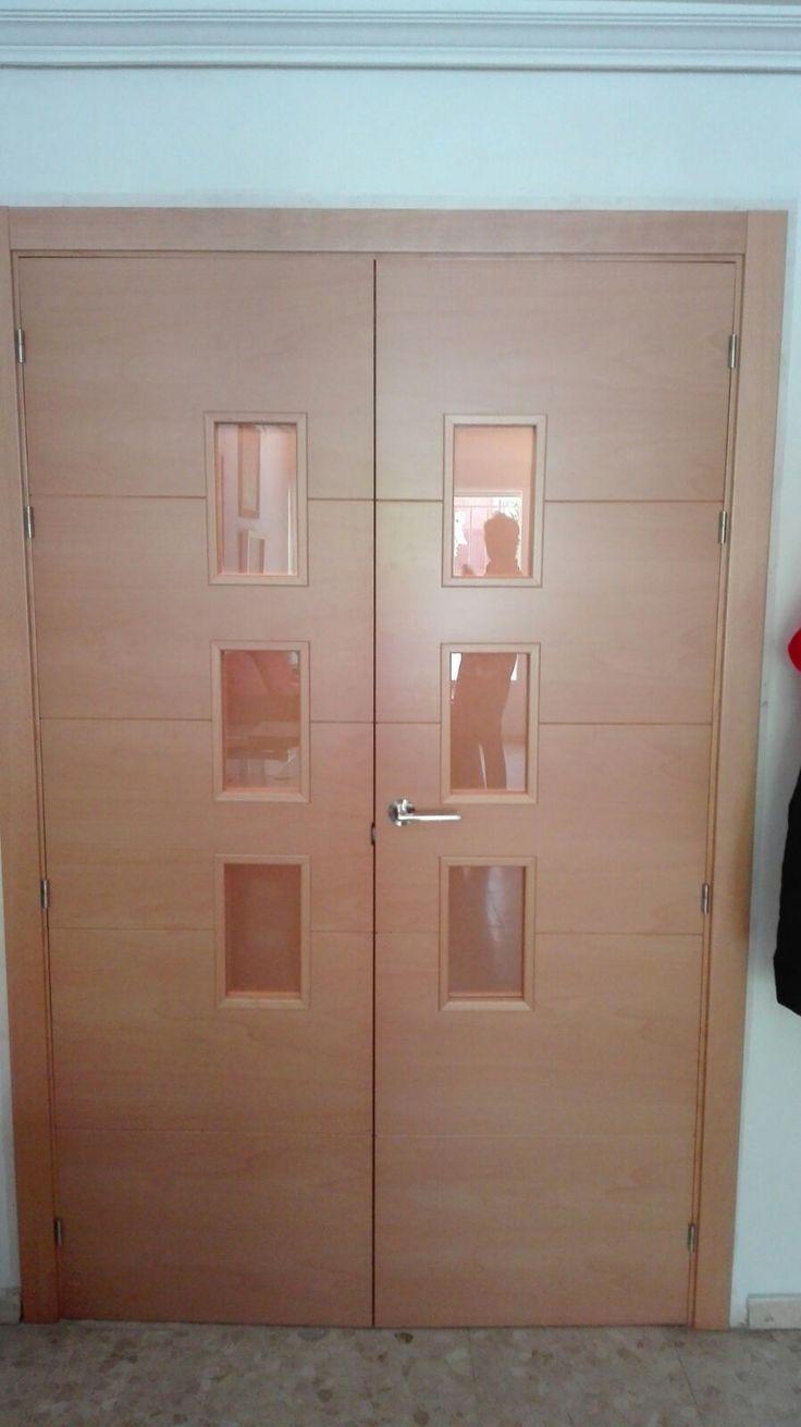 85 best puertas madera natural images on pinterest - Puertas de madera con cristal ...