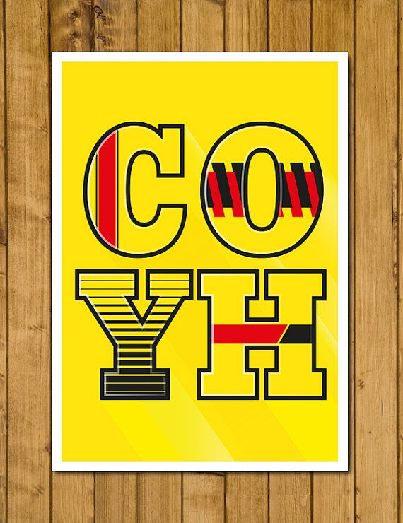 Watford FC  COYH  Home Kits Poster Various by headfuzzbygrimboid