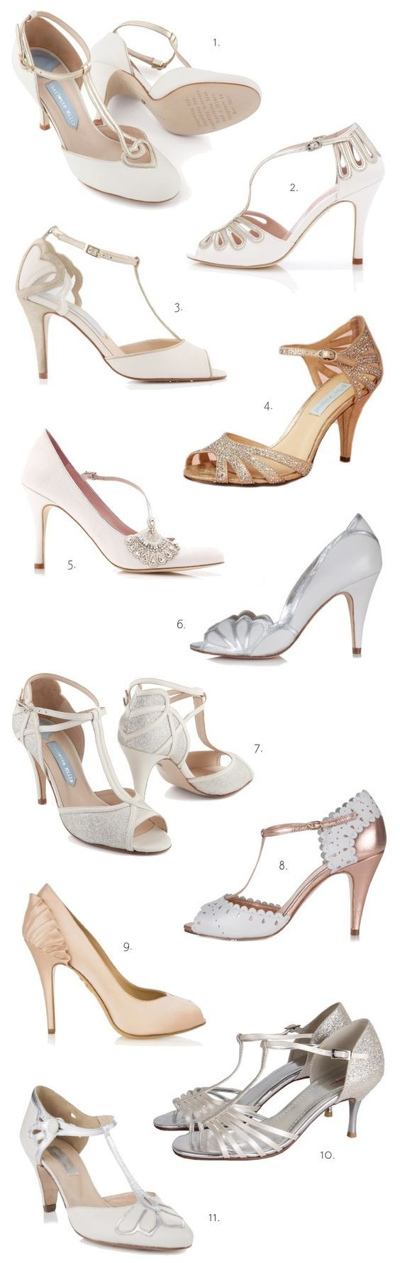 Vintage wedding heels! Kitten heels, rose gold, silver heels, gold heels, nude heels