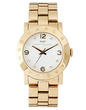 Marc By Marc Jacobs Gold Bracelet Watch With White Face