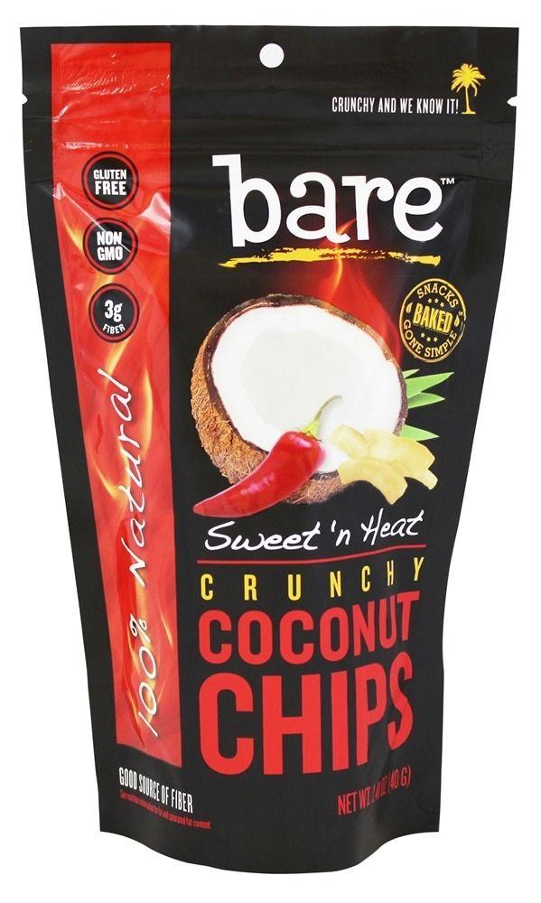Bare Fruit - 100% Natural Crunchy Coconut Chips Sweet 'n Heat - 1.4 oz.