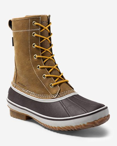 Men's Hunt Pac Boot: A classic from Eddie Bauer originally introduced in the 1950s, reborn with waterproof full-grain leather, seam-sealed…