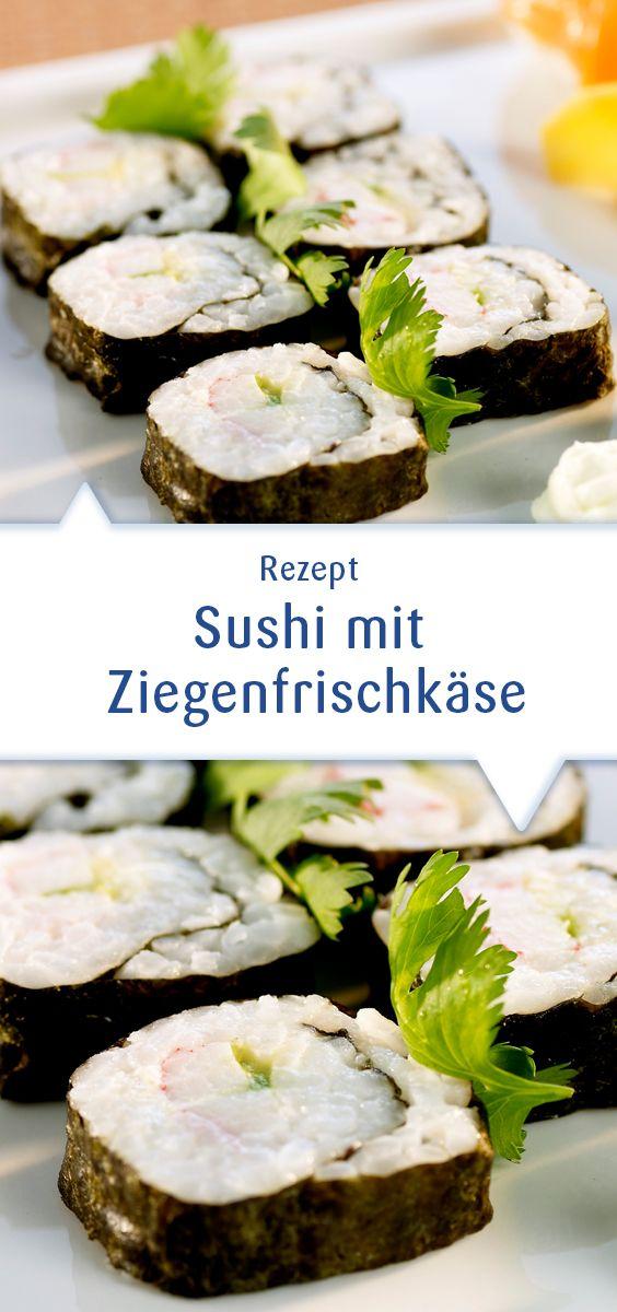 Schon mal Sushi mit Ziegenfrischkäse verfeinert? Nein? Unbedingt probieren, die Kombination ist frisch und lecker. Dieses Rezept und mehr unter http://www.snofrisk.de/rezepte.php