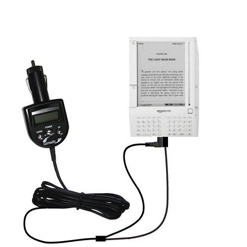 Amazon Kindle (1st Generation) Integrated 12v DC Car Charger and FM Transmitter - Uses Gomadic TipExchange to play music on the FM radio by Gomadic. $34.60. Our new and redesigned 2nd Generation FM Transmitter for the Amazon Kindle (1st Generation) will change the way you listen to music (and charge) in your vehicle forever! Imagine being able to listen to all the music on your Amazon Kindle (1st Generation) directly through your FM radio in the car. Not only will o...