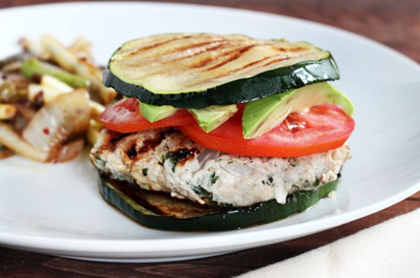 Zucchini Bun Burger - with Eggplant too!