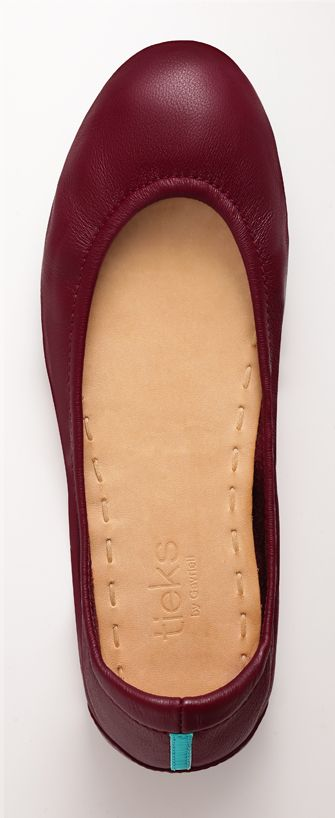 Rich in color and supple to the touch, Burgundy Tieks are the epitome of effortless elegance!: