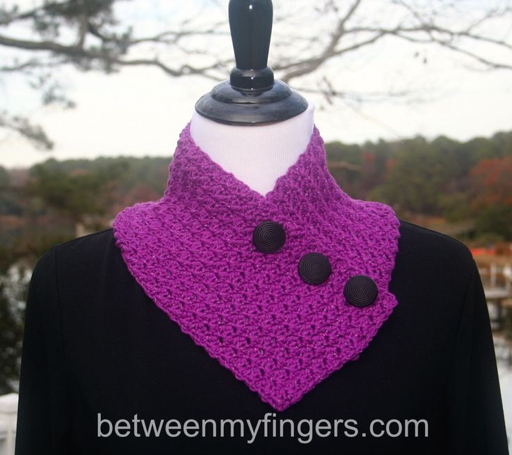 It's a Wrap Neckwarmer - free crochet pattern by Sharon Frazier at Between My Fingers. Uses 150 yards DK weight yarn.