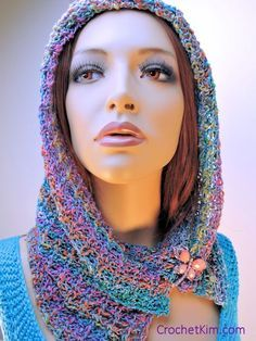 New free crochet pattern at CrochetKim today | Noema Cowl in Louisa Harding Noema http://www.crochetkim.com/patterns/noema-cowl.html