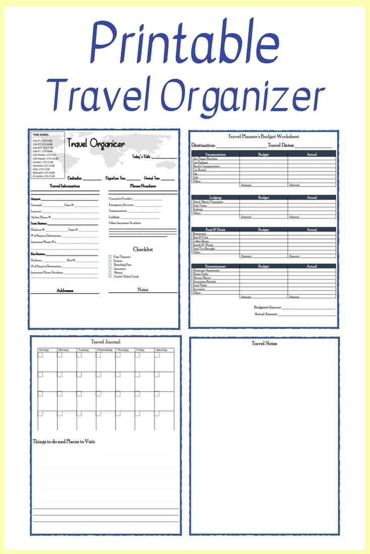Free Printable Travel Planner Travel Itinerary Template Travel
