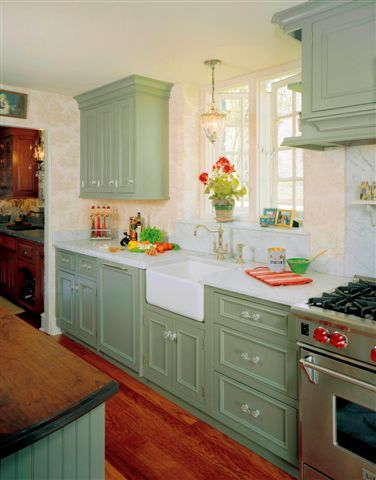 22 best kitchen remodel ideas images on pinterest green for Green country kitchen ideas